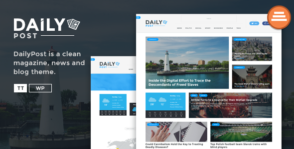 Daily Post - News Magazine and Blog Template - Entertainment Site Templates