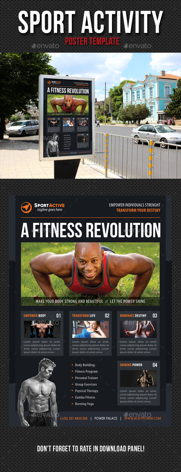 Sport Activity Poster Template V13 - Signage Print Templates