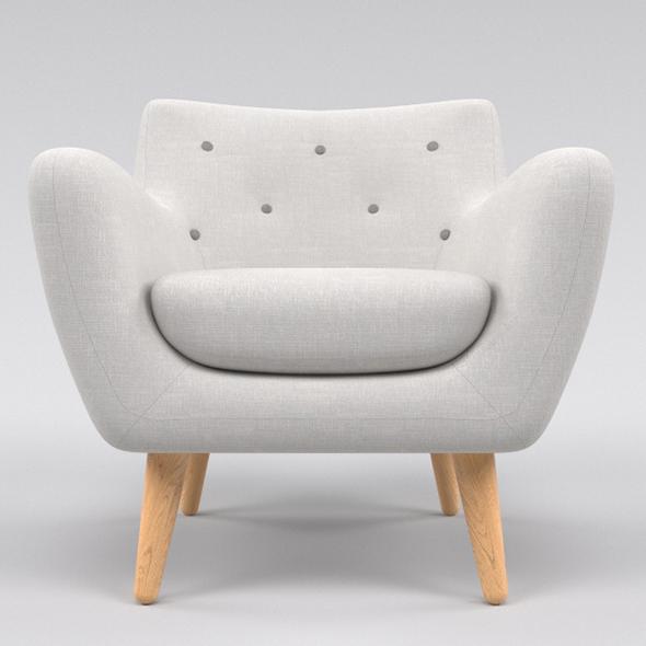 White Chair (armchair) - 3DOcean Item for Sale