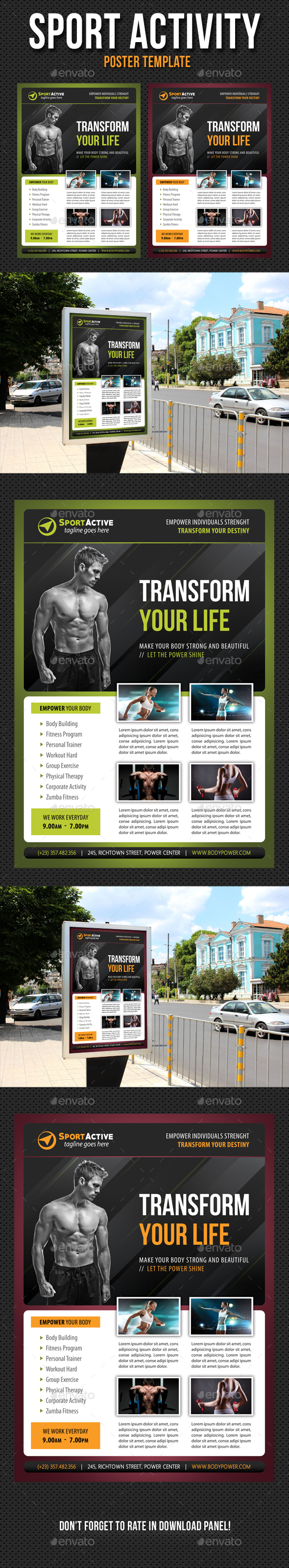 Sport Activity Poster Template V15 - Signage Print Templates