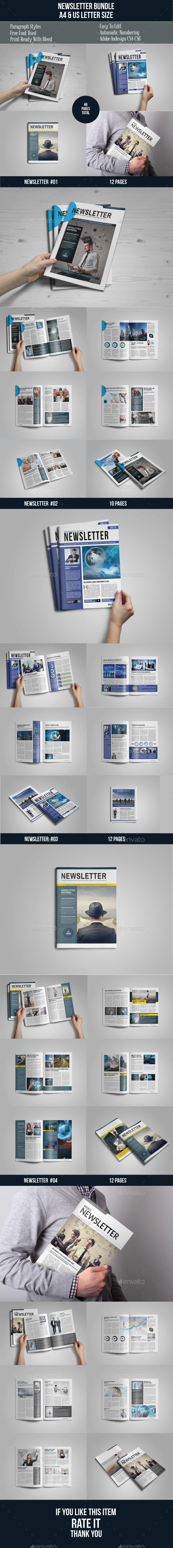 Multipurpose Newsletter Bundle Vol. 1 - Newsletters Print Templates