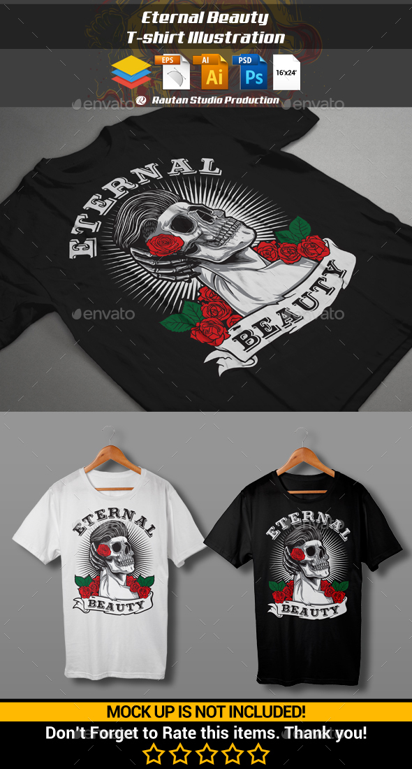 Eternal Beauty T-shirt Illustration - Designs T-Shirts