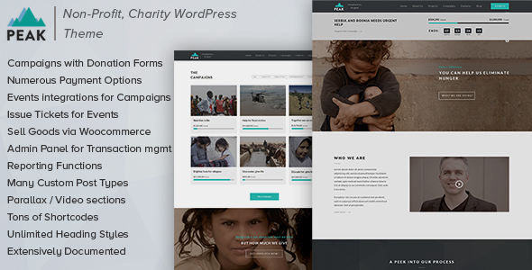 Peak – Charity Nonprofit WordPress Theme