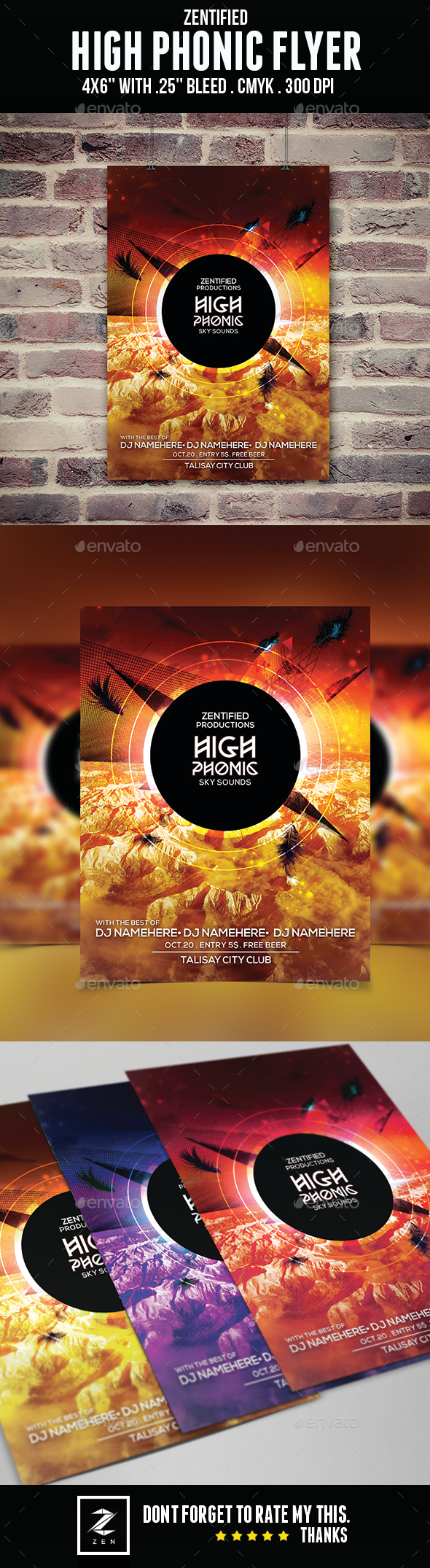 High Phonic Flyer - Clubs & Parties Events