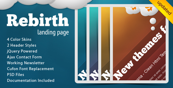 Free Download Rebirth Landing Page Nulled Latest Version