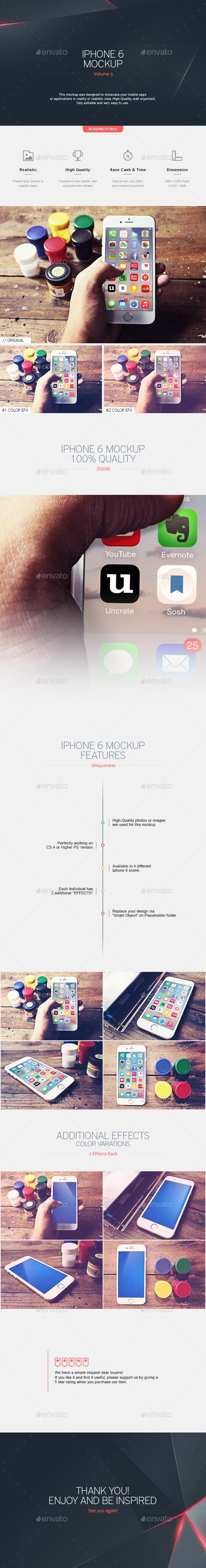 Phone 6 Mockup V.5 - Mobile Displays