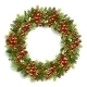 Christmas Wreath with Red Berries - GraphicRiver Item for Sale