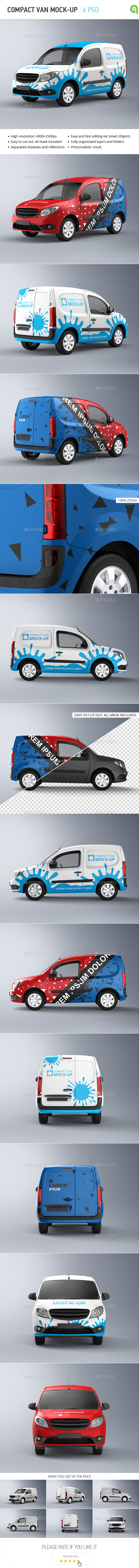 Compact Van Mock-up - Vehicle Wraps Print