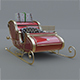 Santa Claus Sled - 3DOcean Item for Sale