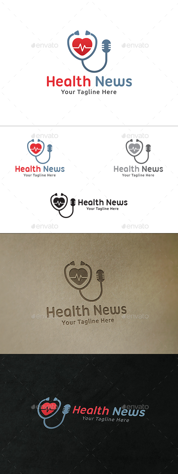 Health News Logo - Symbols Logo Templates