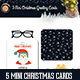 5 Mini Christmas Greeting Cards - GraphicRiver Item for Sale