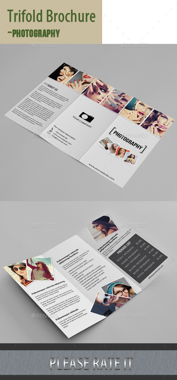Trifold Brochure For Photography - Portfolio Brochures