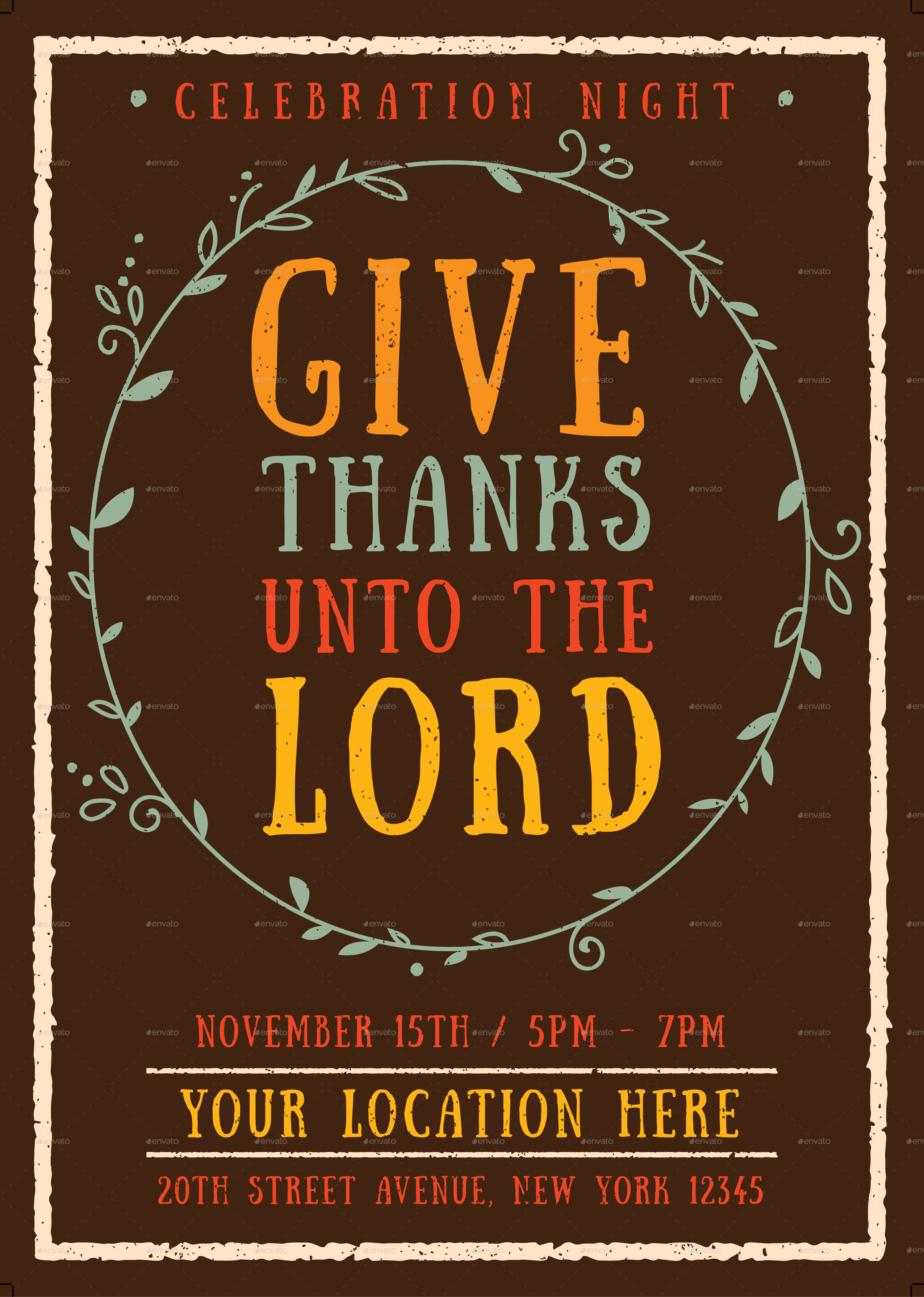 Give Thanks Flyer Template By Me55enjah Graphicriver