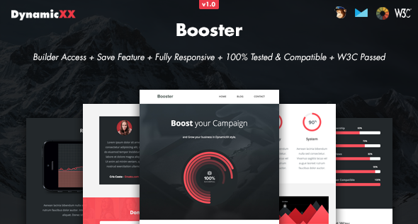 Booster – Responsive Email + Online Builder
