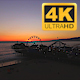 Santa Monica Peir Sunset Drone  - VideoHive Item for Sale