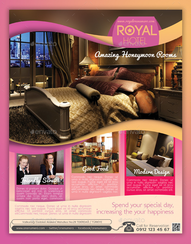 Royal Hotel Flyer Template By Graphicersan | Graphicriver