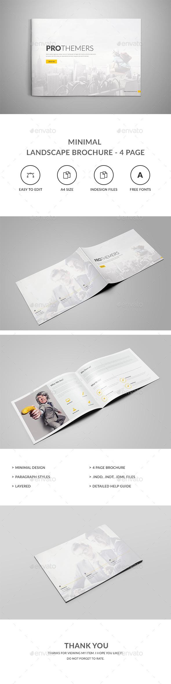 4 Pages Landscape Brochure - Brochures Print Templates