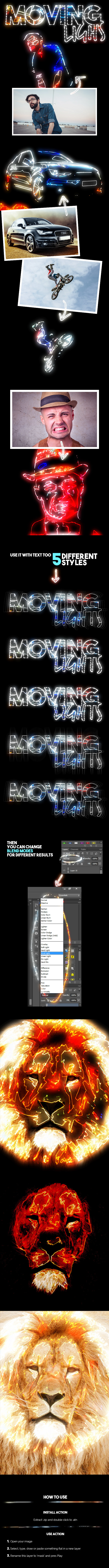 Moving Lights - Photo Effects Actions