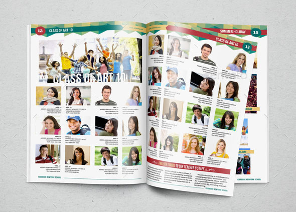 YEARBOOK TEMPLATE DESIGN VOL By Hiro GraphicRiver - Yearbook design templates