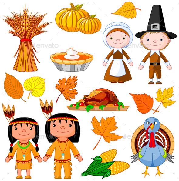 Thanksgiving Icon Set - Seasons/Holidays Conceptual