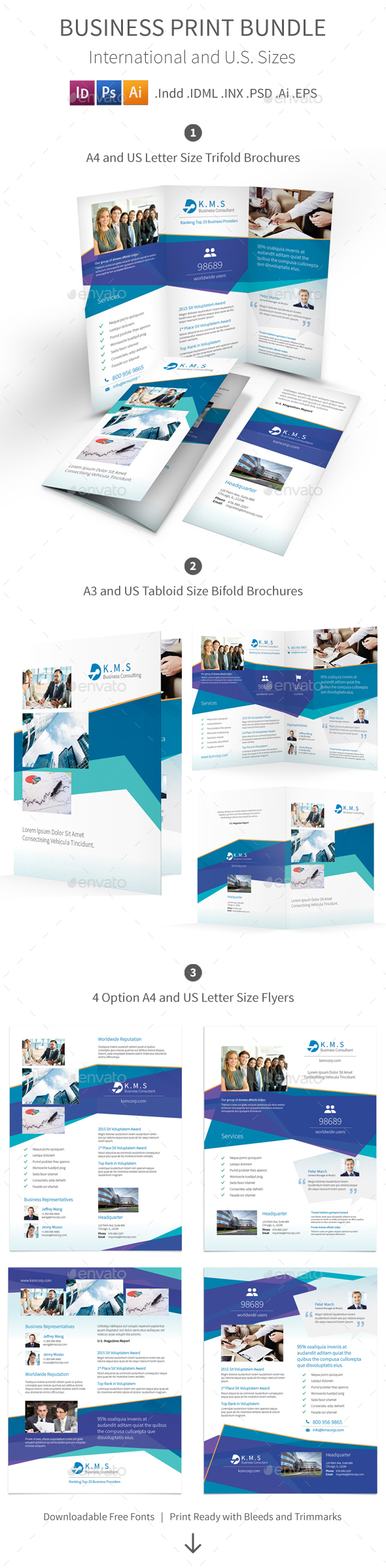 Business Consulting Services Print Bundle - Corporate Brochures