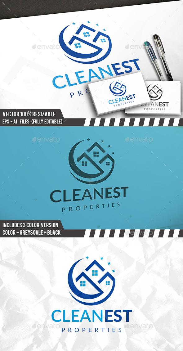 Clean Real Estate Logo - Buildings Logo Templates