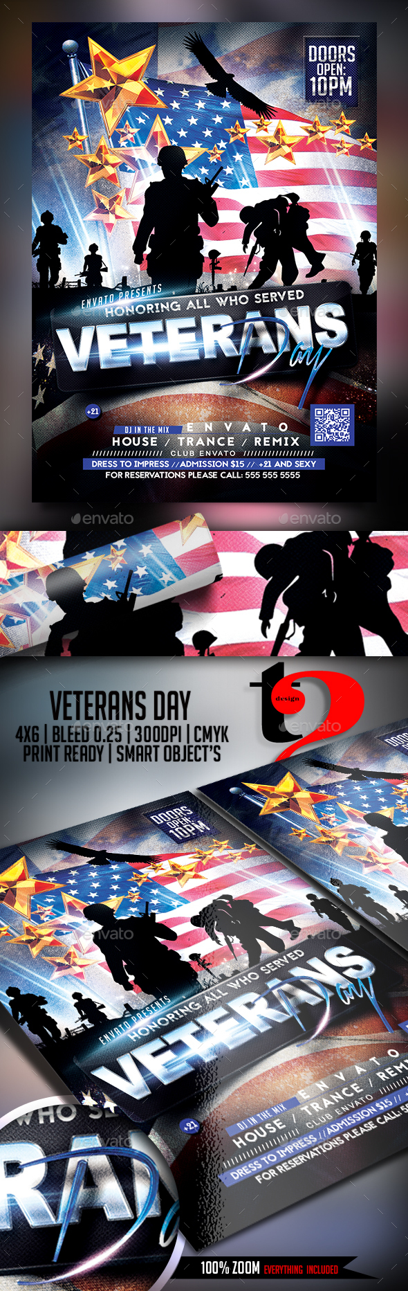Veterans Day Celebration Flyer - Clubs & Parties Events