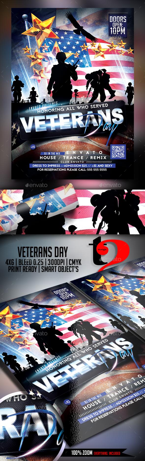 Veterans Day Celebration Flyer