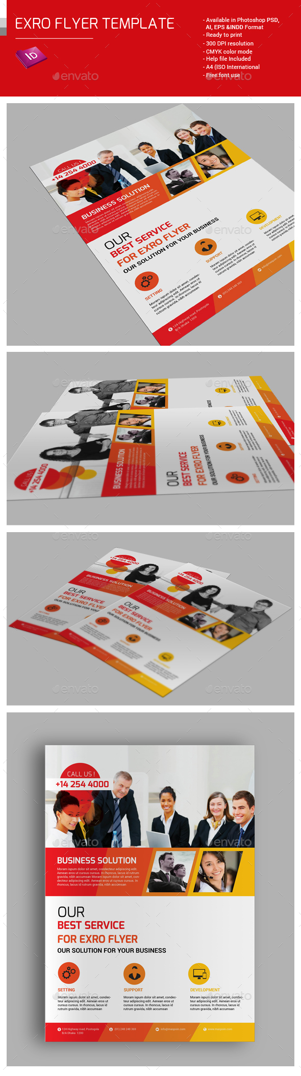 Exro Flyer Template - Corporate Flyers