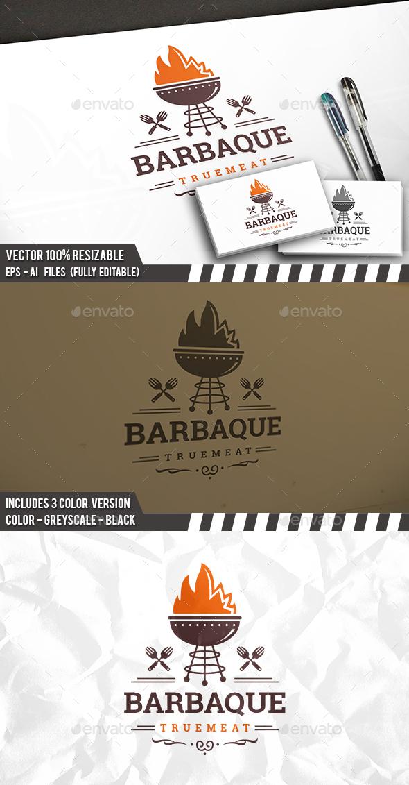 BBQ Logo - Food Logo Templates
