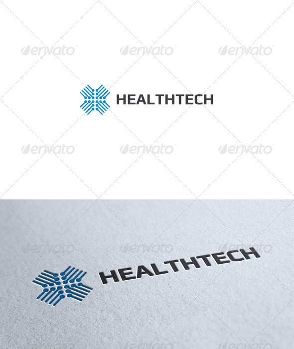 Health Tech Logo - Symbols Logo Templates