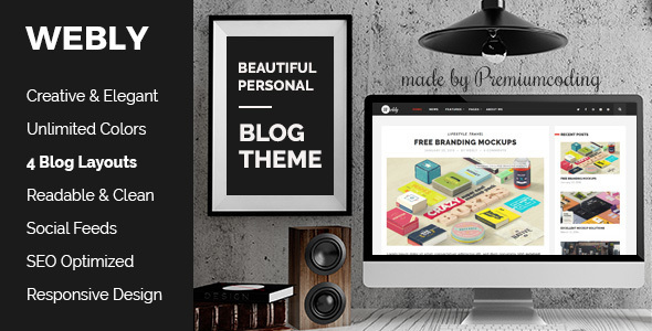 Webly - WordPress Blog Theme - Personal Blog / Magazine