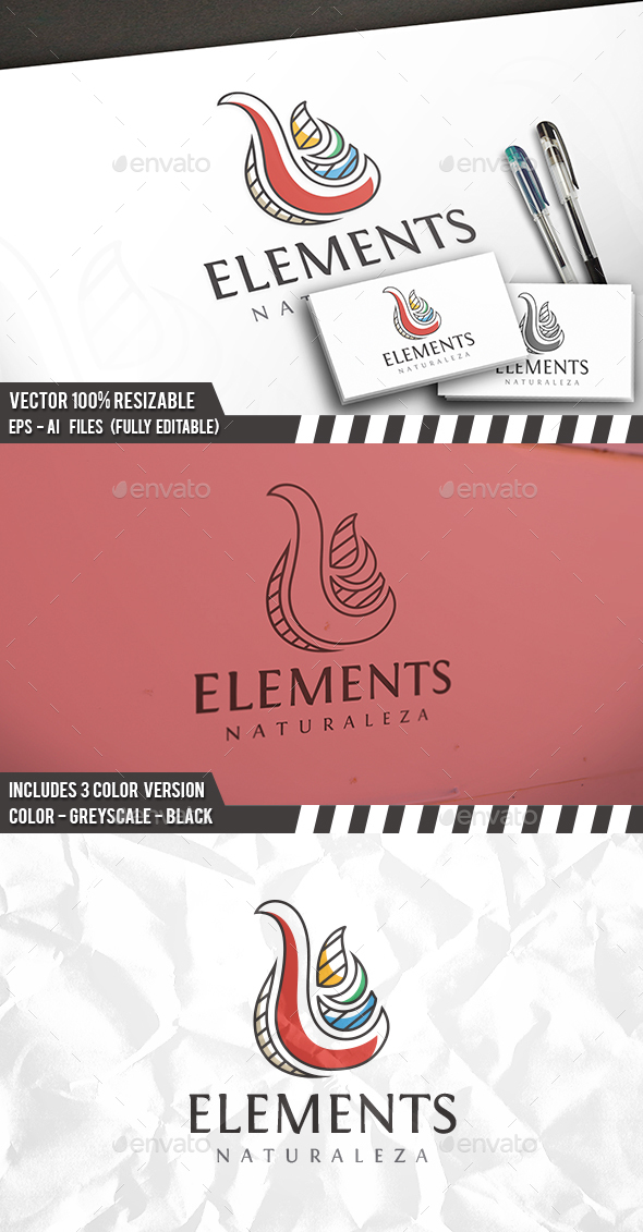 Elements Logo - Vector Abstract