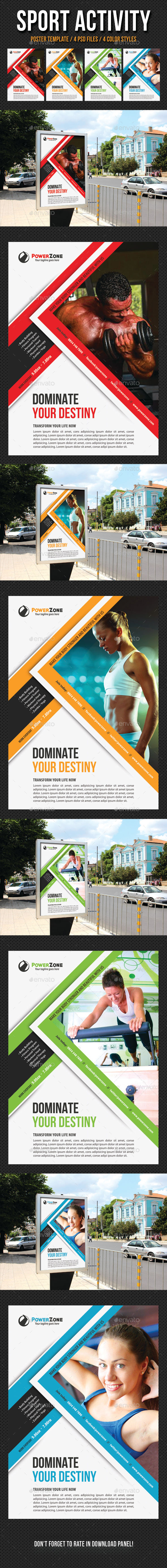 Sport Activity Poster Template V16 - Signage Print Templates