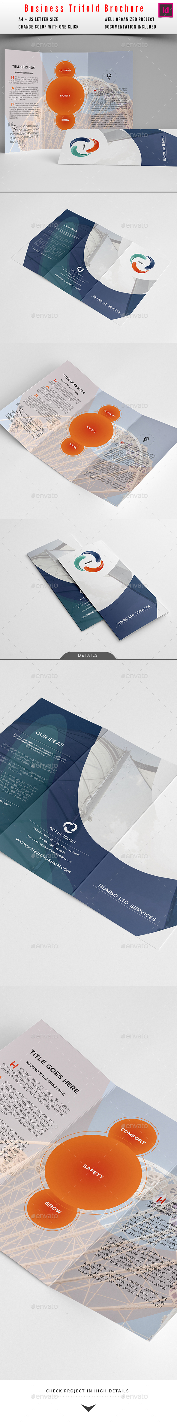 Trifold Elegant Modern Business Brochure - Corporate Brochures