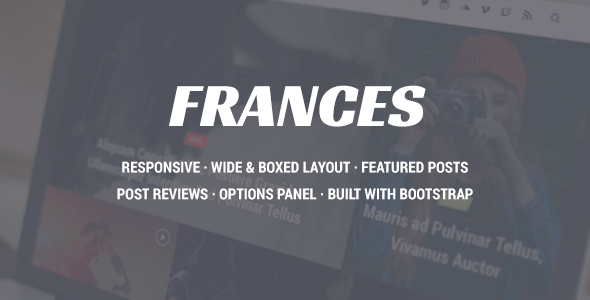 Frances – Responsive WordPress News Theme