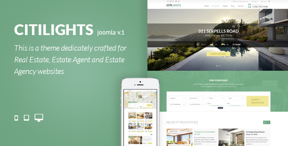 Image of Citilights - Real Estate Joomla Template
