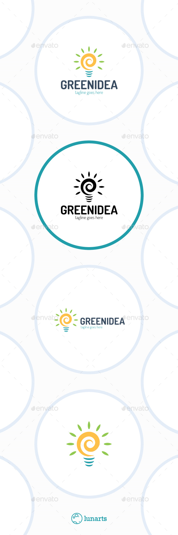 Green Spiral Idea Logo - Symbols Logo Templates