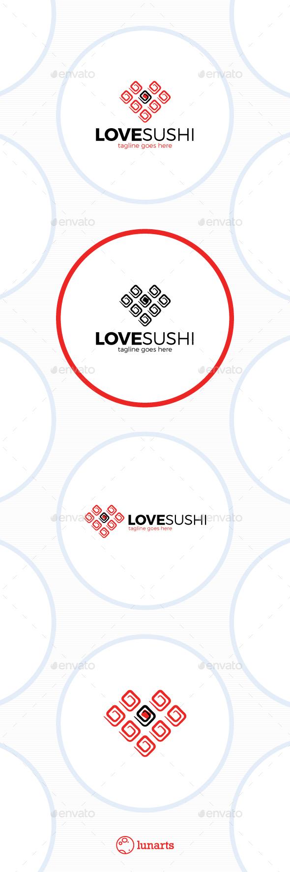 Sushi Love Logo - Symbols Logo Templates