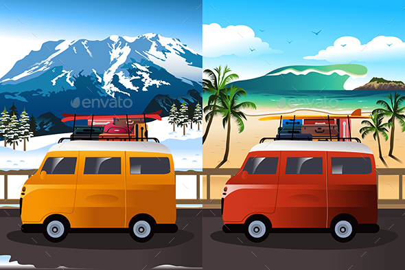 Travel in Van - Travel Conceptual