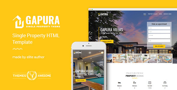 Single Property HTML Template – Gapura