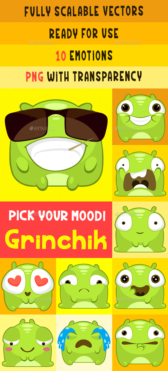 Greenchick Stiker Pack - Monsters Characters