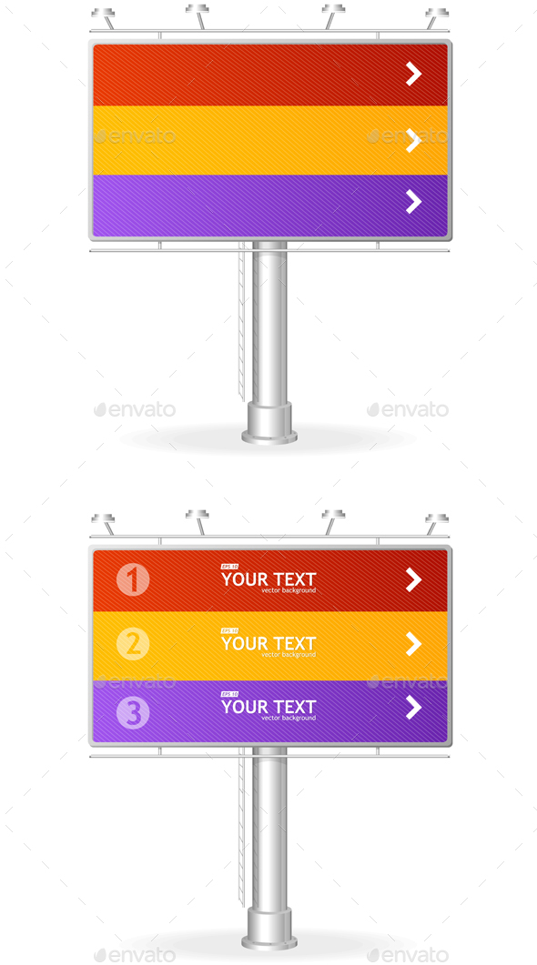 Billboard Screen Template. Vector - Business Conceptual