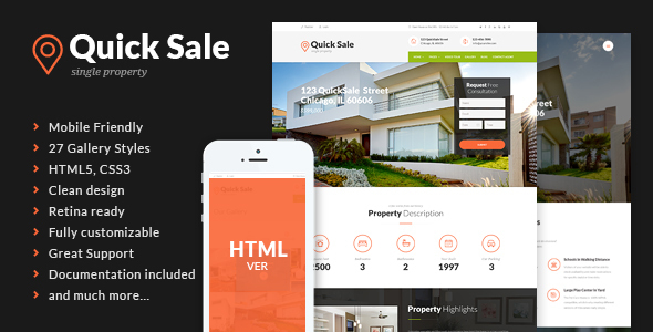 Quick Sale – Real Estate HTML Theme