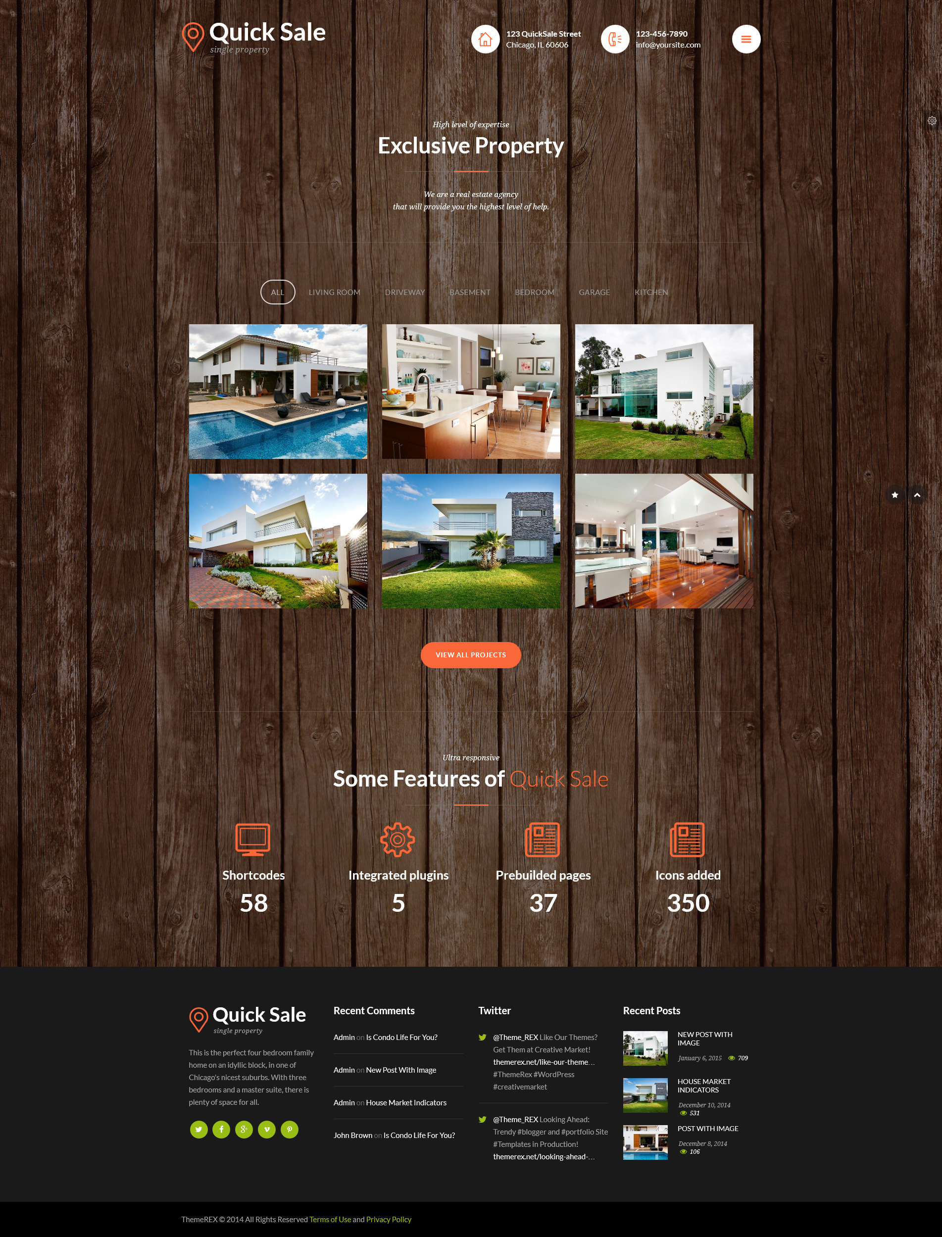 Quick sale real estate html theme