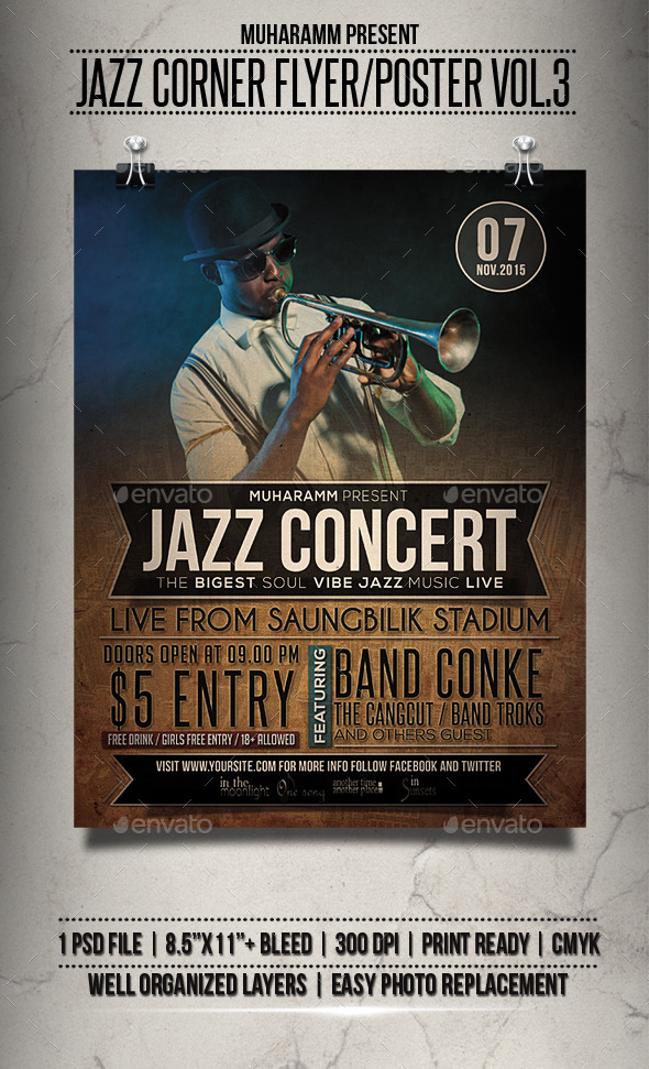 Jazz Concert Flyer / Poster Vol.3 - Events Flyers