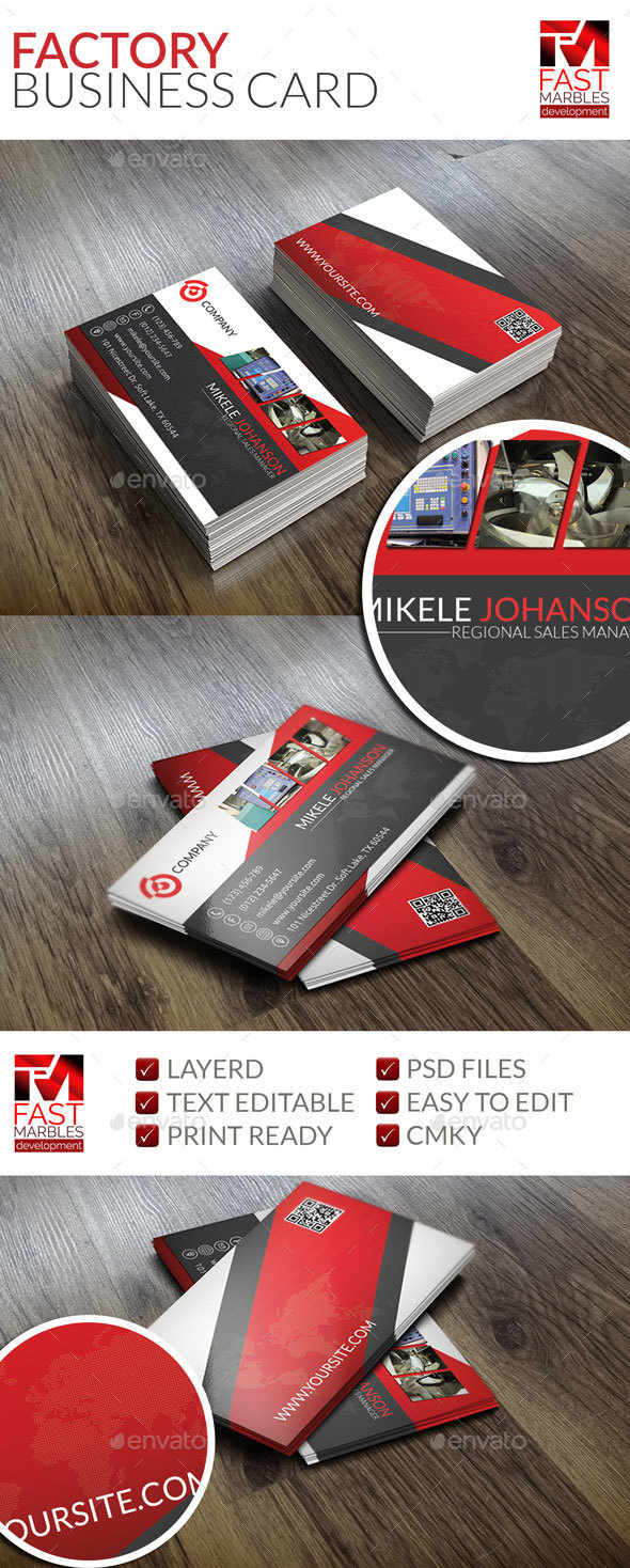 Factory Business Card - Industry Specific Business Cards