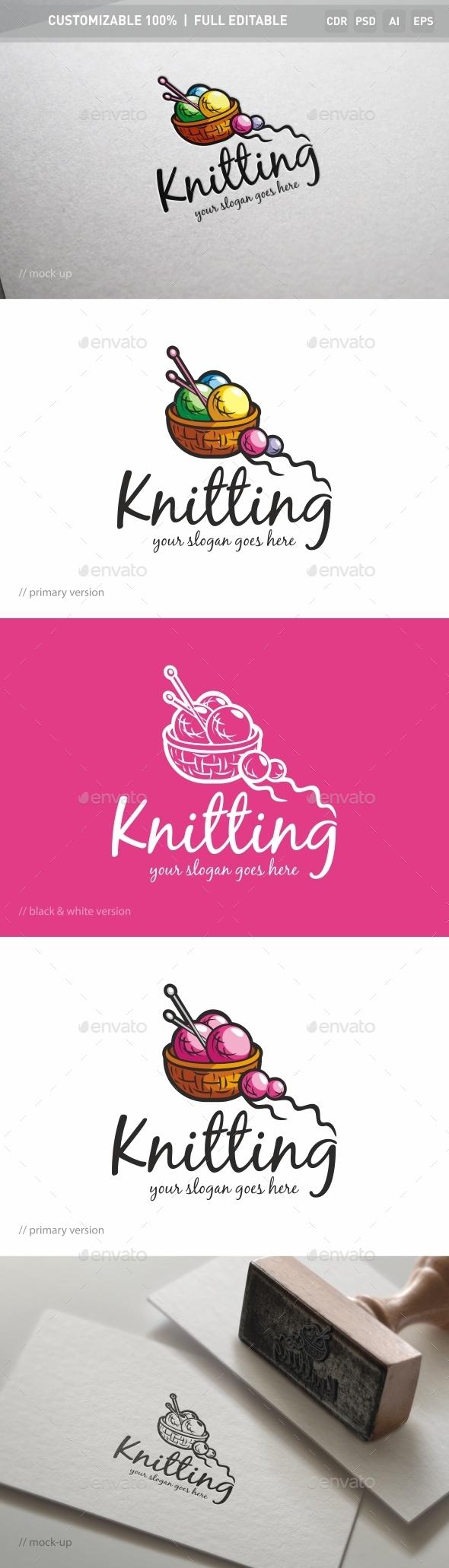 Knitting Logo Template - Objects Logo Templates