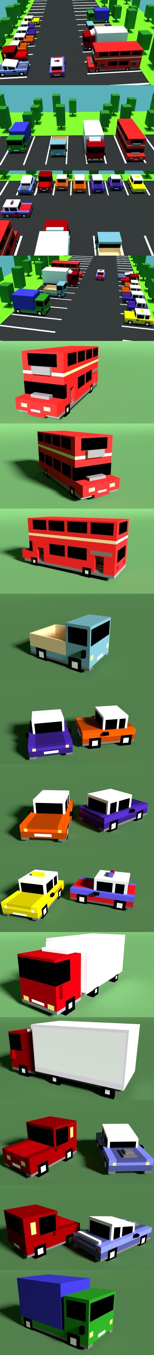 Low Poly Cars - 3DOcean Item for Sale