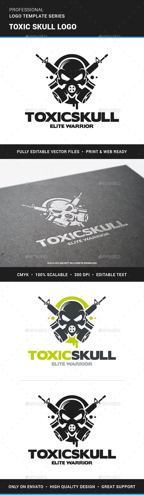 Toxic Skull Logo Template - Logo Templates